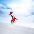 Weihnachtsmann auf der Ski Schanze