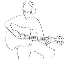 chitarrista tratto