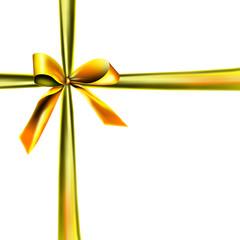 Weisse Verpackung mit goldener Schleife