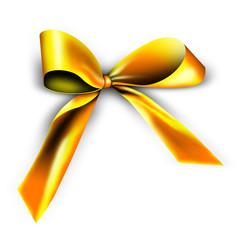 Goldene Schleife für ein Geschenk