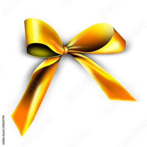 goldene schleife f r ein geschenk stockfotos und lizenzfreie bilder auf bild. Black Bedroom Furniture Sets. Home Design Ideas