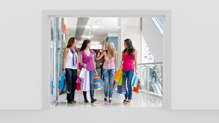 Window opening to shopping