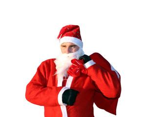 Fröhlicher Weihnachtsmann freigestellt