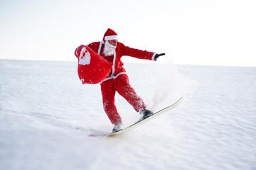 Weihnachtsmann Extremsportler