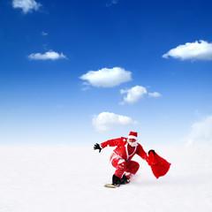 Weihnachtsmanns Geschenke Zustellung