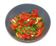 piatto peperoni gialli e rossi