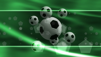 In the Green Soccer Background Loop