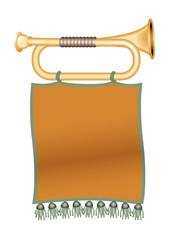 dark green trumpet