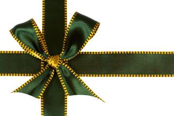 Grüne Schleife, freigestellt auf Weiss
