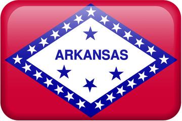 Arkansas Flag Button