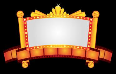 Gold cinema neon