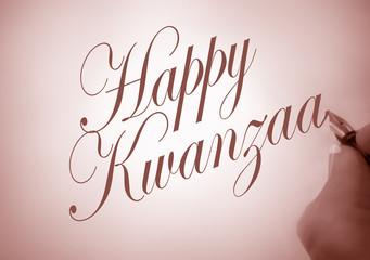 Callligraphy Happy Kwanzaa