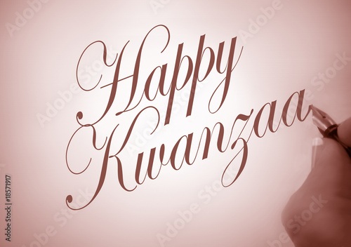 Callligraphy Happy Kwanzaa