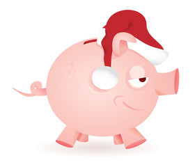 Natale risparmio con salvadanaio