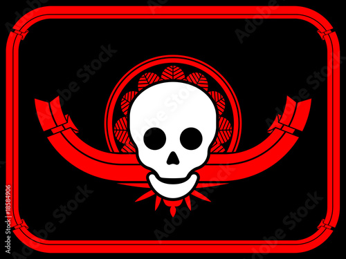 art deco borders. Skull art deco border frame