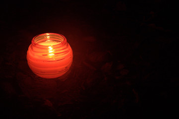candle in park