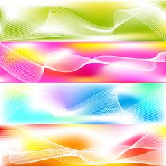Set of 4 banner backgrounds