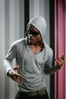 African american young black man rap