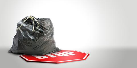 Tri sélectif - valorisation des déchets - fond gris