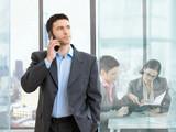 Fototapety Businessman on phone