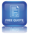 """ Free Quote "" Button (square - blue - vector - reflection)"