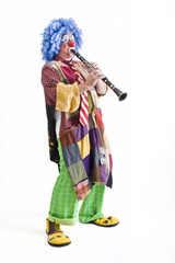 clown and clarinet