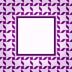 Design violet pattern frame