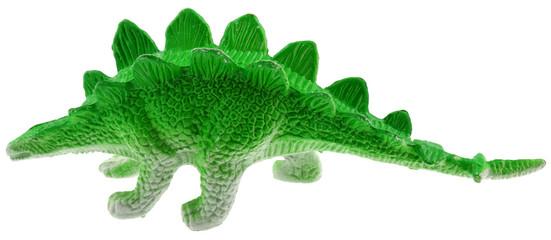 stégosaure, herbivore préhistorique fond blanc