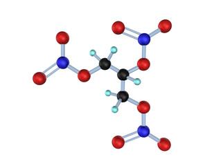 Molecule Nitroglycerin 3D