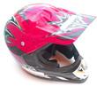 casque rose visière fond blanc
