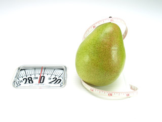 Healthy food, nutrition and fruits – pear
