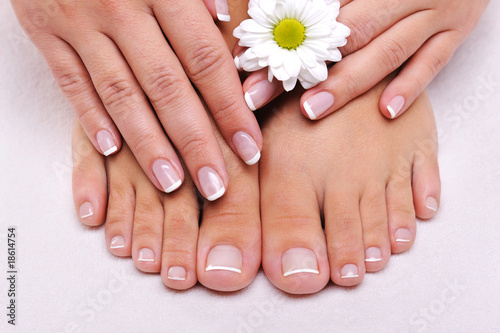 Skincare of a beauty female feet - 18614754