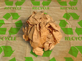 Crinkled papyrus ball poster