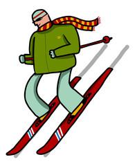 esquiador deslizandose por la nieve