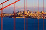 Golden Gate Bridge and San Francisco at sunset