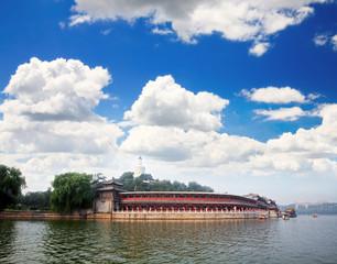 The Beihai Park near Forbidden City Beijing