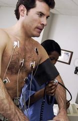 Man having a stress test