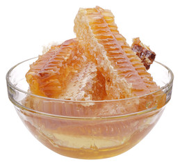 honeycomb in glass cup