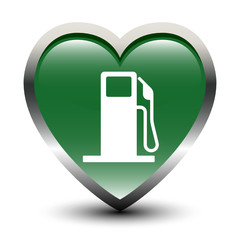 Heart Shape Fuel Station Icon