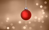 Christmas Bauble On Blurry Lights poster
