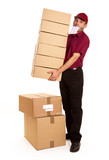Busy deliveryman poster