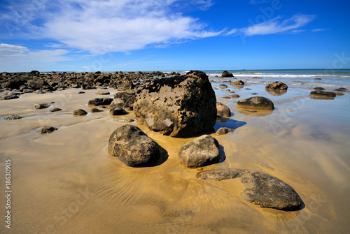 Boulders at Maketu Beach, Bay of Plenty, New Zealand
