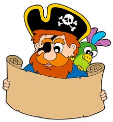 Pirate reading treasure map