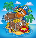 Pirate and treasure-