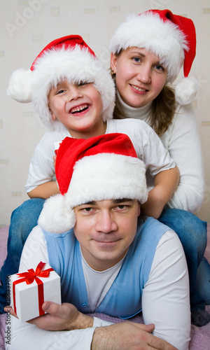 Christmas Happy family