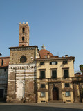 Lucca - View on the romanesque San Giovanni church. poster