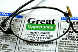Focus on the great opportunity in job searching poster