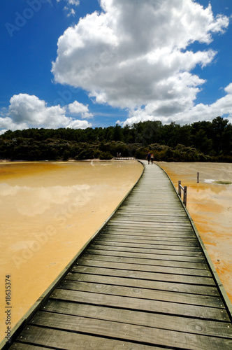 Boardwalk across the Artist's Palette, Wai-O-Tapu, NZ