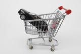 shopping cart with car