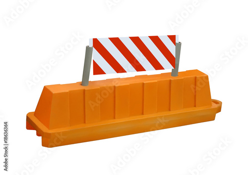 orange stop security road barrier sign, nobody, isolated